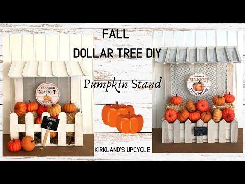 FALL DOLLAR TREE DIY | PUMPKIN STAND | KIRKLAND&#3…