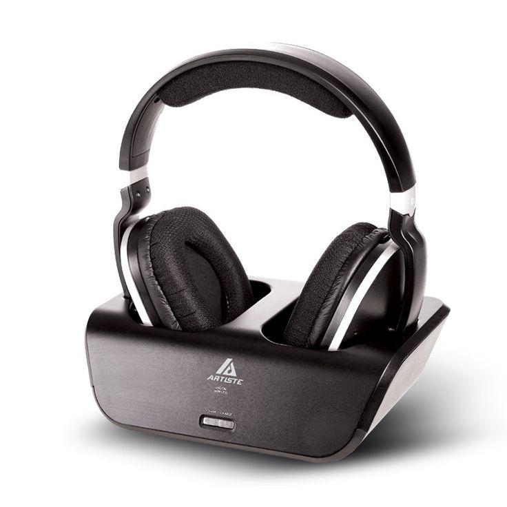 Artiste ADH300 2.4G HiFi Stereo Wireless TV Headphone With Digital Output Converter For PC TV