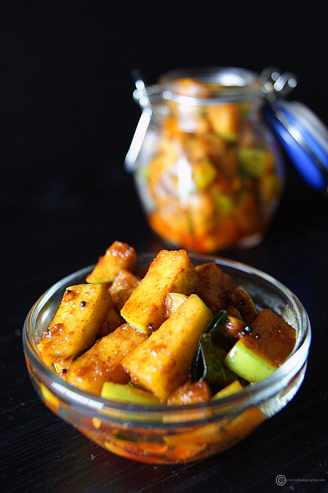 """Do you love Indian pickles, but worried that it might be too salty or spicy. Don't worry. You can try this """"Instant Green Apple Pickle"""" which is comparatively healthier and you get choose how much salt and spice goes in."""