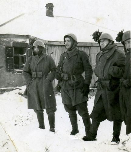 Italian Soldiers in the Russian Winter 1941