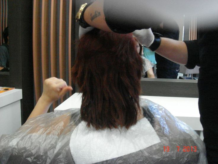 Uygulanılan saç, daha önceden 8.3( Sarı tonlarına) açılmış ve üzerine bakır renk uygulanmış bir saçtı.