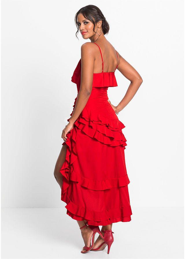 64e4db7258f5 Šaty s volánmi • červená • bonprix obchod