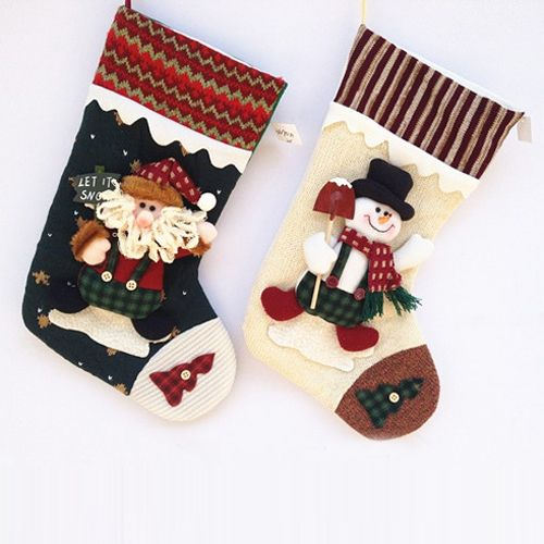 Aliexpress.com : Buy Free shipping 2013 Christmas stockings santa claus happy new year decoration indoor decoration SHB107 from Reliable decorative paper for walls suppliers on Men's choice $12.99