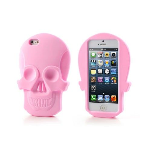 Soft Schedels (Light Roze) iPhone 5/5S Hoesje