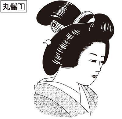 Причёска замужней женщины эпохи Эдо