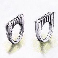 Sketch jewelry design white - by silvanuno.com
