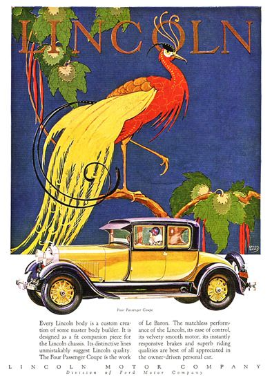 Lincoln Motor Company 1928 Coupe Le Baron - Mad Men Art: The 1891-1970 Vintage…