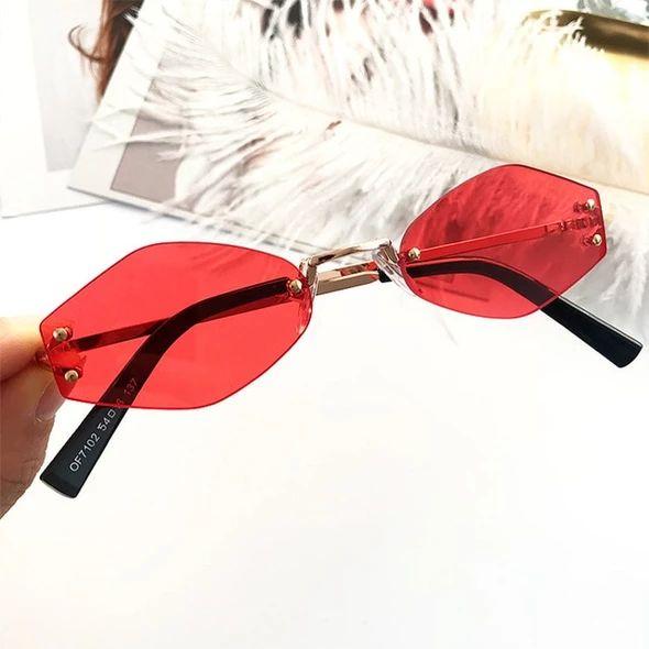 UVLAIK Vintage Small Round Sunglasses Women Retro Sun Glasses Female Oval Black Yellow Red Eyeglasses Prismatic