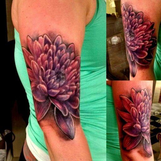 Flower tattoos. Chrysanthemum tattoo.                              …