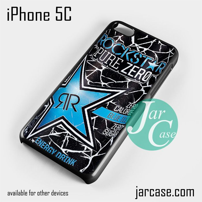 rockstar energy drink blue pure zero Phone case for iPhone 5C and other iPhone devices