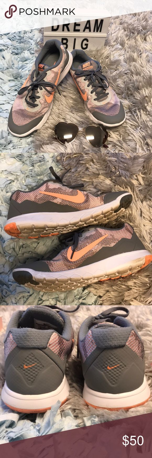 Nike Flex Experience RN 4 In good condition. Lightly worn shows little to no wear on the soles. No scuffs. Has some wear shown on the inside near the ankles but that's it. Please feel free to offer or bundle Nike Shoes Athletic Shoes