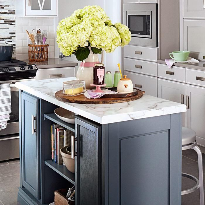 Paint your island a different color from the rest of your kitchen cabinets  to create color490 best Kitchens images on Pinterest   Home  Kitchen and  . Make A Kitchen Island From Stock Cabinets. Home Design Ideas