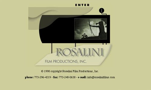 Website design for Rosalini Film Productions. (home page)
