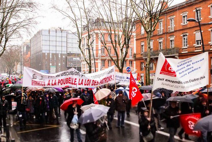 Time lapse de la manifestation de Toulouse contre la Loi Travail du 9 ma...