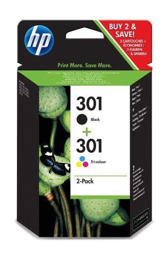 (Germany): Bürobedarf: HP Original Druckerpatrone 301 (dreifarbig + schwarz, Kombipack 190/165 Seiten) CR340EE [Listenpreis: EUR 21,98 - Kaufen Neu: EUR 17,61 ]
