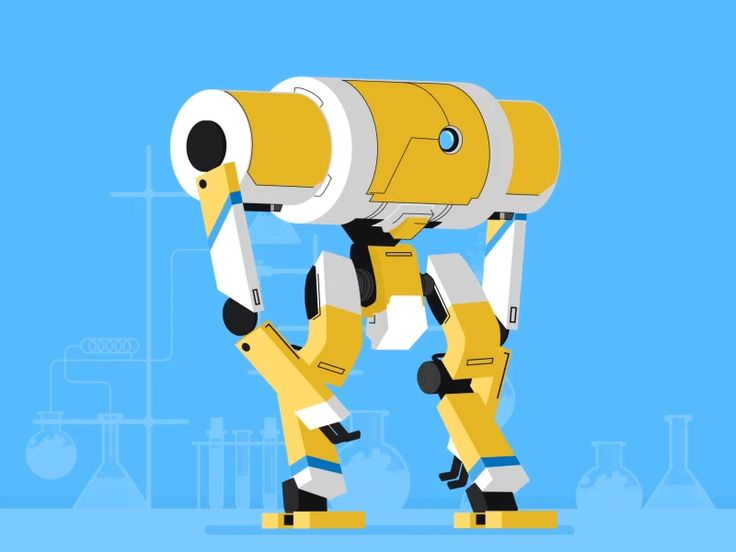 """Hunan - Yellow robot walk cycle  <p>Last shot from the latest video I'm working on. <br />Everything done in After effects.</p>  <p><a href=""""https://www.behance.net/Hunan"""" rel=""""nofollow noreferrer"""">Behance</a> 