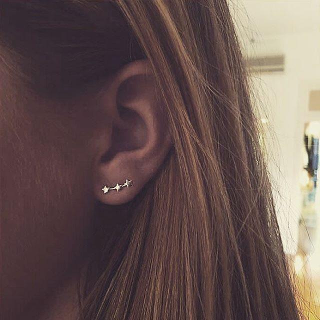 Star Cluster Earrings    www.gmssilver.com