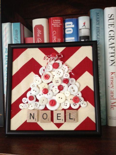 O Christmas Tree - holiday button craft
