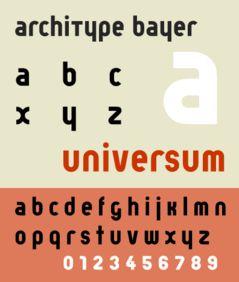 "Herbert Bayer Bauhaus Posters | Bayer developed the ""Universal"", a geometric sans-serif typeface ..."