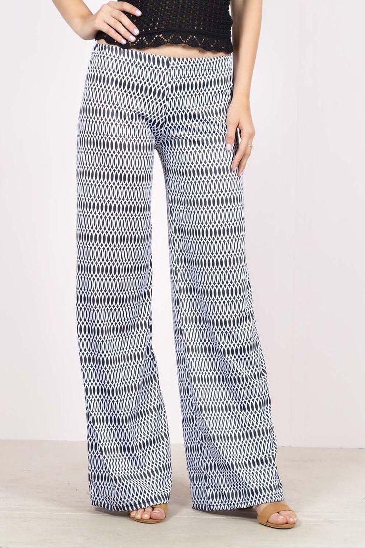 Εμπριμέ παντελόνα ελαστικήeXXes.Ύψος μοντέλου: 1,78m95% Polyester 5% Elastane