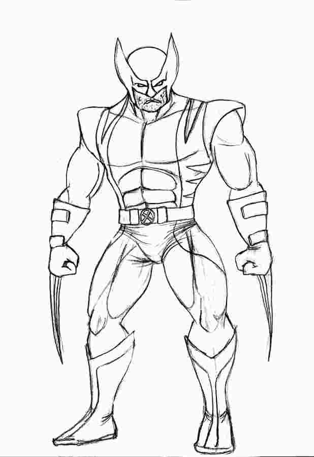 Easy Wolverine Coloring Pages Superman Coloring Pages