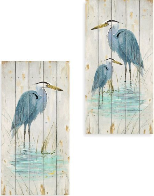 Shorebird Art | Blue Herons, Sand Pipers & other Favorite Shorebirds.... http://www.completely-coastal.com/2016/10/shorebird-art-blue-herons-sand-pipers.html