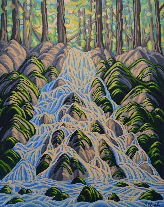 Sarrail Creek Falls 24X30 Original Painting