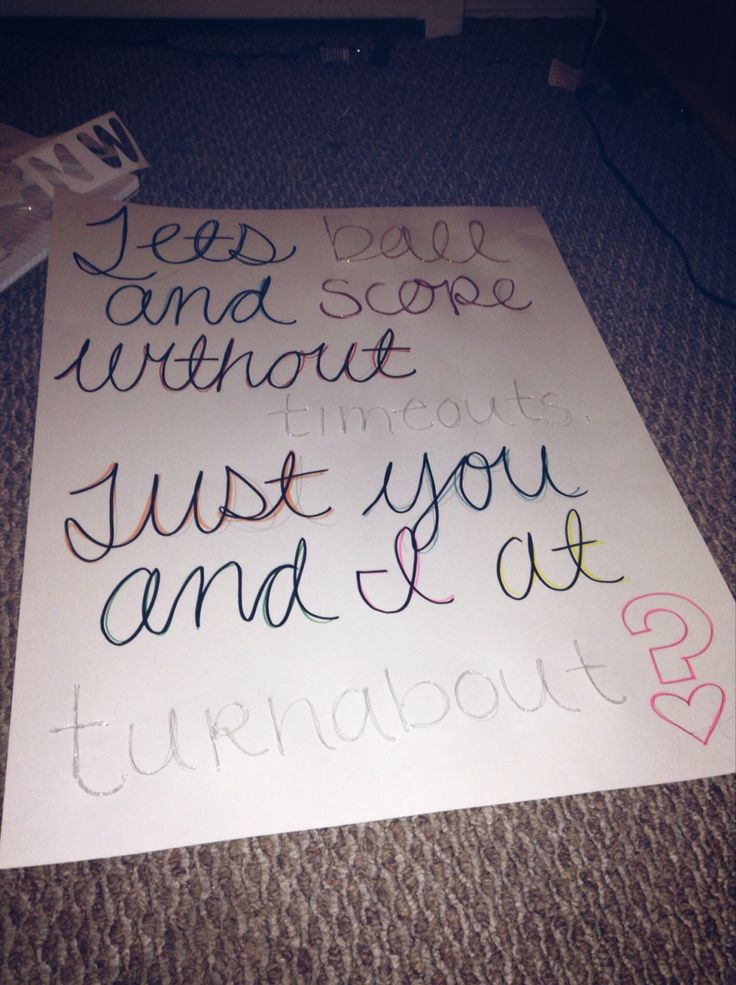 Ways To Ask A Guy To Turnabout