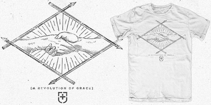 """Jedidiah Clothing - Revolution"" t-shirt design by Cameron Latham"