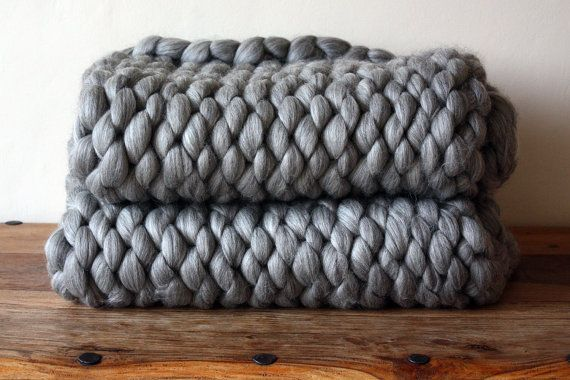 chunky knit corriedale wool throw by graphitehandknit on etsy a certain something. Black Bedroom Furniture Sets. Home Design Ideas