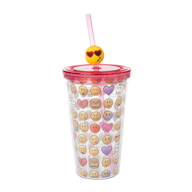 Emoji Tumbler with Straw | Claire's