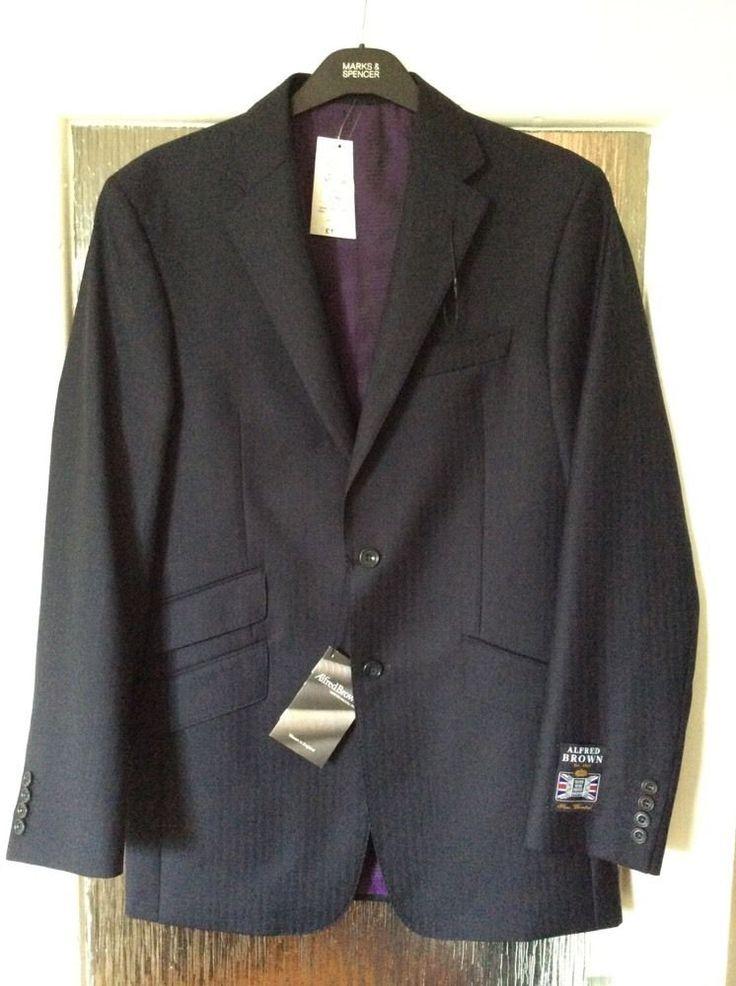 M&S SARTORIAL ALFRED BROWN men jacket UK38 Long 100%PURE NEW WOOL BNWT RRP£130 | eBay