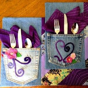 Cute placemats or make silverware holders.