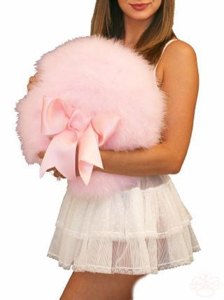 Now THAT'S a powder puff! ... can also be used by burlesque dancers as a stage prop.