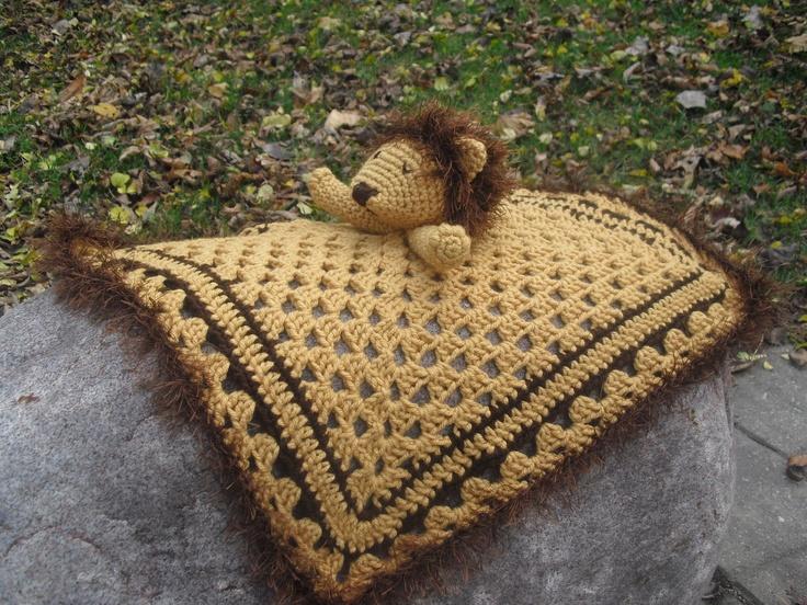 Crochet Amigurumi Lion Patterns : 115 best crochet baby loveys security blankets images on pinterest