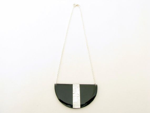 Half Disc Geometric Necklace Minimalist by SotiriaVasileiou, $28.00