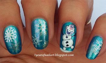 15 Disney Frozen Olaf Nail Art Designs, Ideas, Trends & Stickers 2014 | Olaf Nails