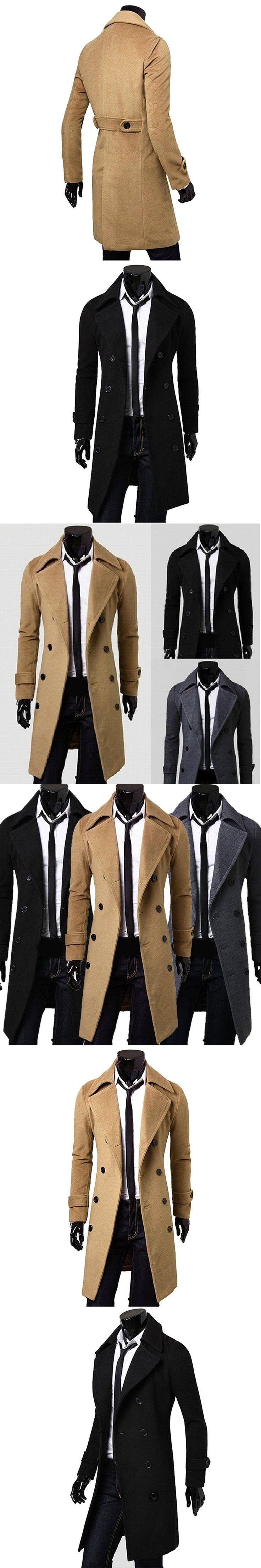 2017 New Arrival Autumn Winter Trench Coat Men Brand Clothing Fashion Mens Long Coat Top Male Overcoat  Gentleman