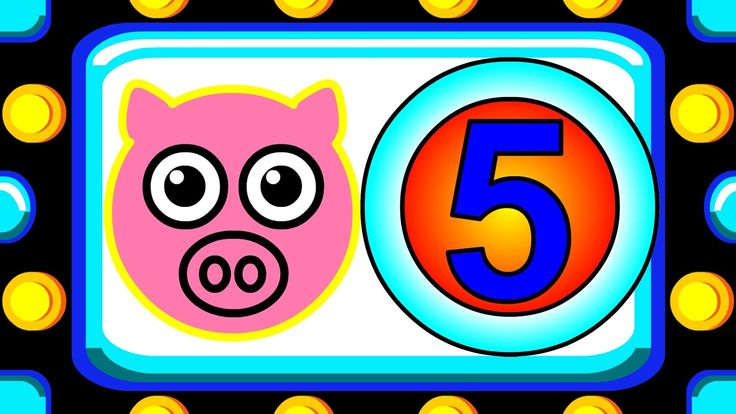 """""""Counting By Fives"""" - Learn to Count by 5's, Big Numbers Song, Teach Kid..."""