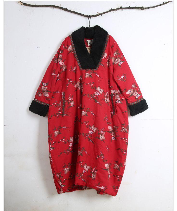 Women cotton winter long  thick cotton coat - Tkdress  - 2