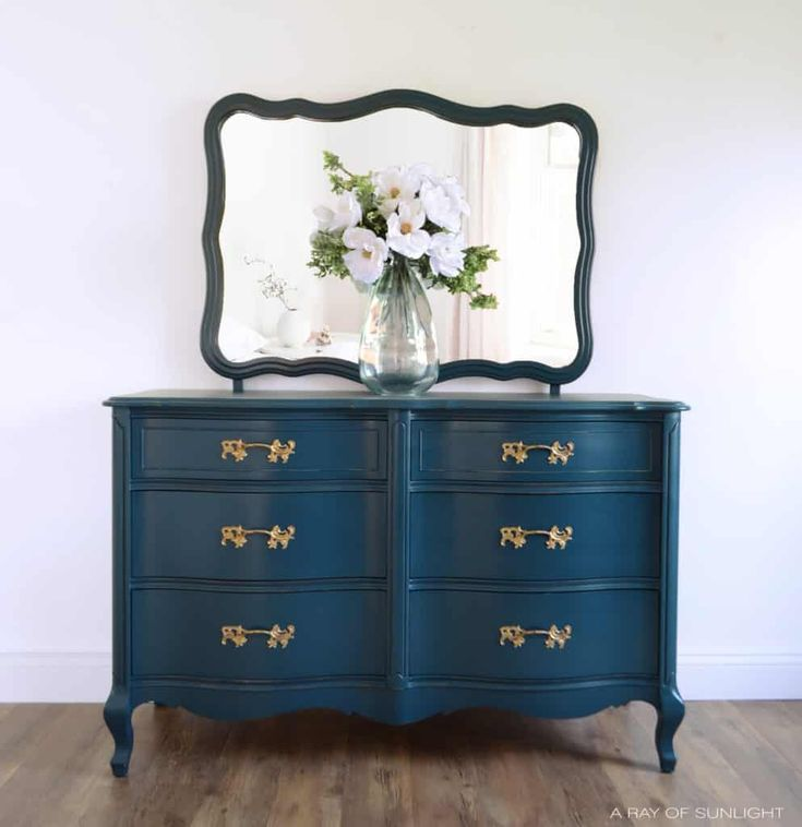 Navy Blue French Provincial Dresser in 2020 With images ...