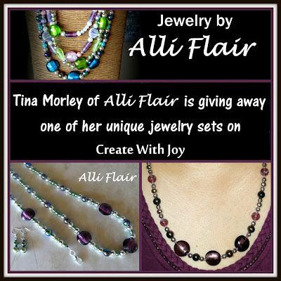 Alli Flair Jewelry Giveaway ~ Amanda's Books and More and hosted by Create With Joy ~ Competition ends 29th of Nov. 2015 #win #handcrafted #handmade #jewellery #jewelry #giveaway