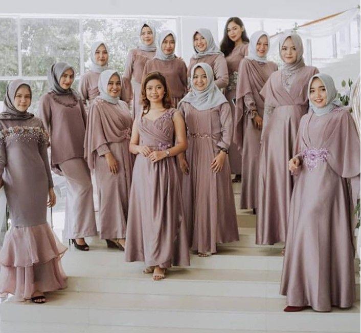 100 Inspirasi Model Baju Gamis Brokat Terbaru 2019 Kekinian Dan Modern Wikipie Co Id Pakaian Pernikahan Pakaian Perkawinan Pakaian Pengiring Pengantin