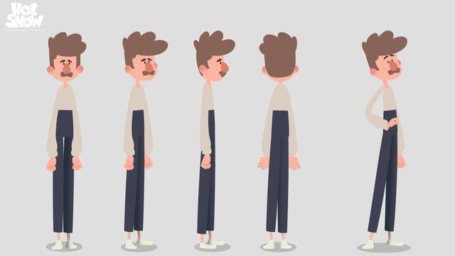 Teste de rig e animação/rig and animation test. Toon Boom cut out.