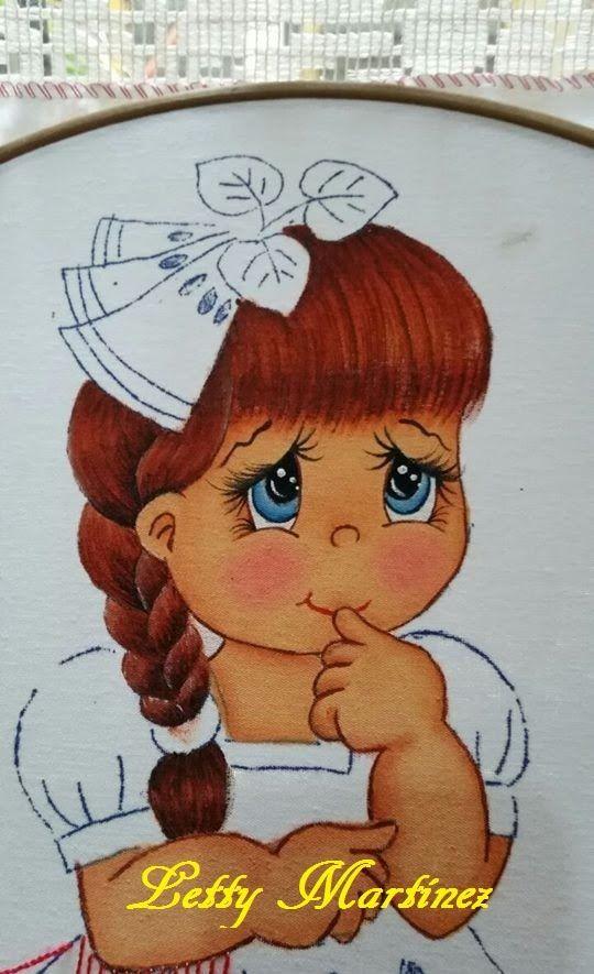 Pintura en Tela - Cara y Brazos - Niña Sandía 1