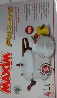 Selatan Jaya distributor barang plastik Surabaya: Panci Presto cooker 4 liter 20 cm merk Maxim