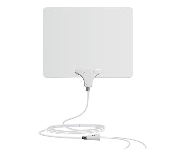 Mohu - Leaf 50 Amplified Indoor HDTV Antenna - Black/White - Larger Front
