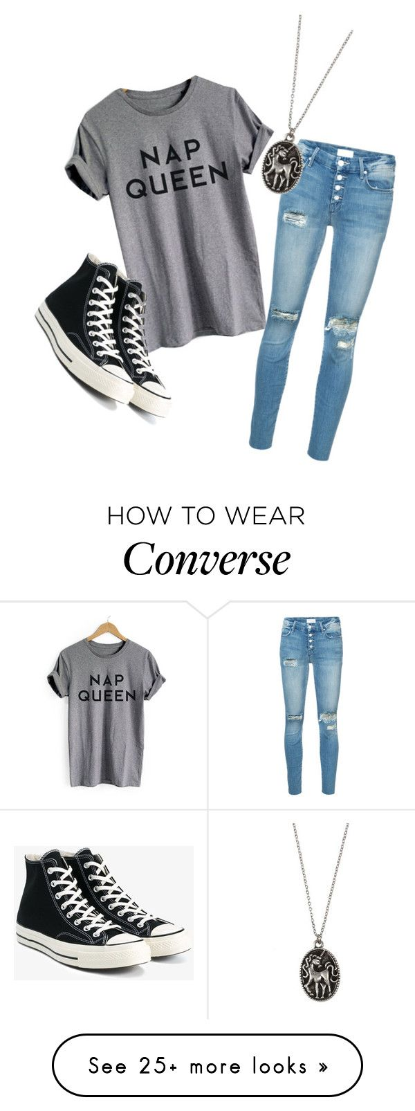 """""""untitled #9"""" by luna-e on Polyvore featuring Mother and Converse"""