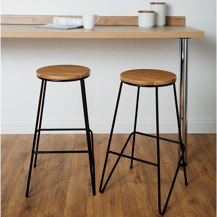 Kitchen Bar Stools B&Q in 2020   Black bar stools, Bar ...