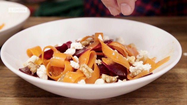 Si te has puesto como un zepelín en Navidad, desínflate con ensaladas que aprovechan productos en temporada como las espinacas, la naranja o la remolacha.